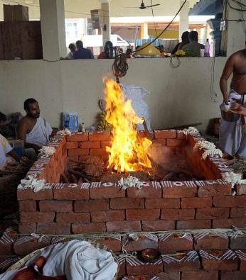 Homa fire ritual